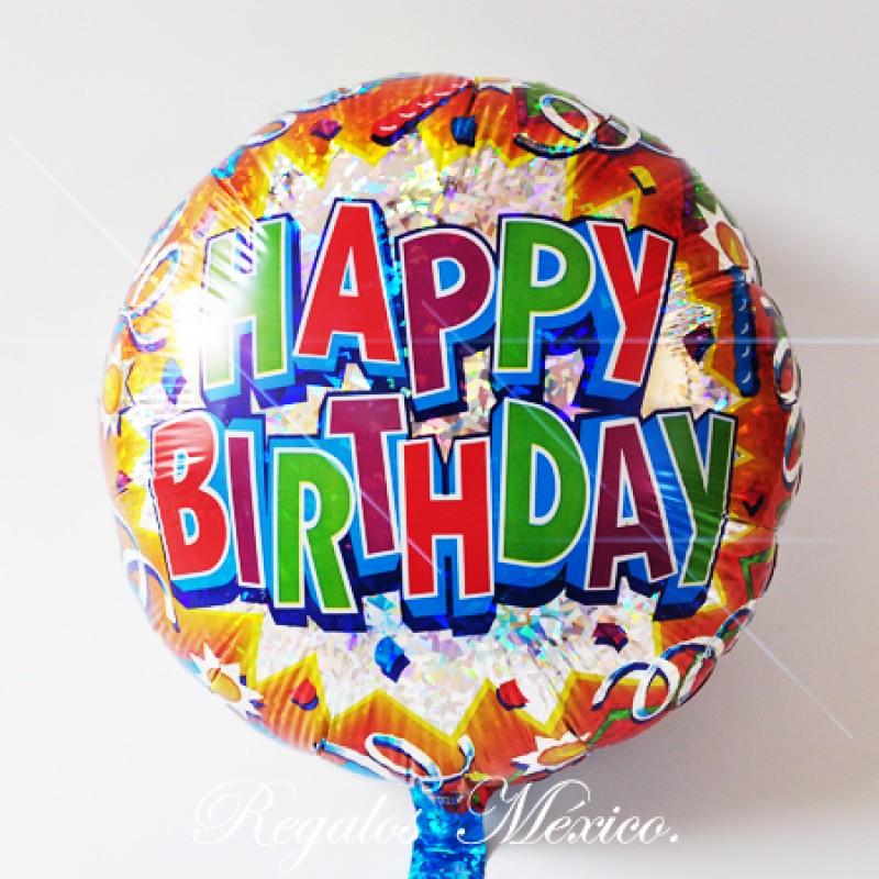 Globo De Helio Happy Birthday