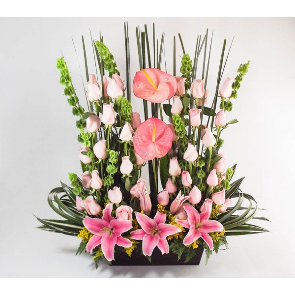 Floreria arreglo de rosas anturios y acapulcos - Ramos de flores grandes ...